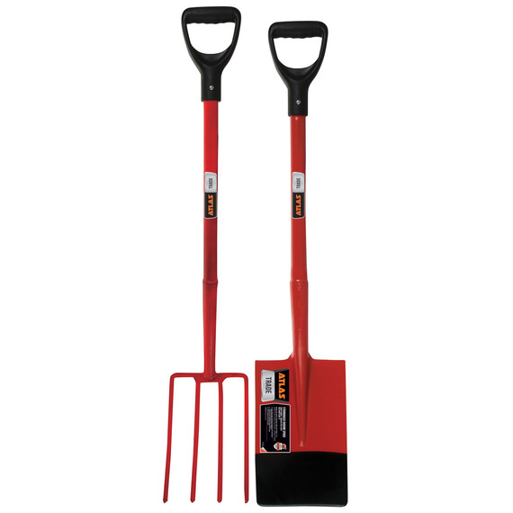 Fly buys atlas trade digging spade fork set for Garden fork and spade set