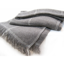 Stansborough Brushed Grey Wool Blanket