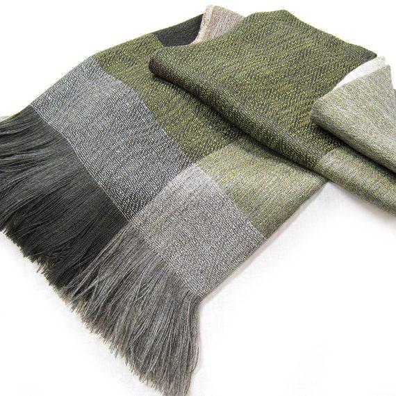 Stansborough Grey Wool &  Alpaca Designer Block Throw