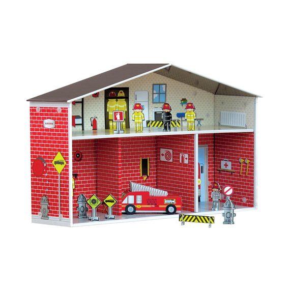 Kroom Dylan Fire Station & Bonus Fire Truck & Accessories