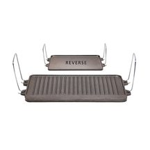 Campmaster Reversible Cast Iron Plate for 2 Burner Stoves