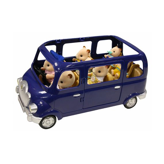 fly buys sylvanian families blue bell seven seater car with family. Black Bedroom Furniture Sets. Home Design Ideas