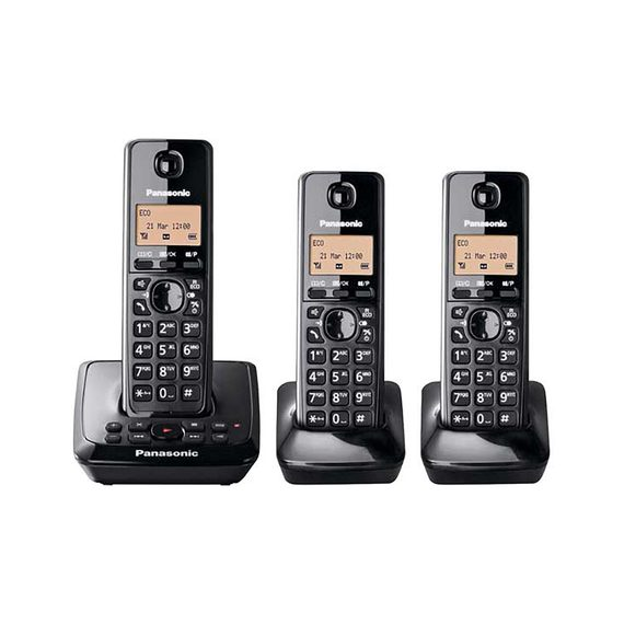 Fly Buys Panasonic Dect Cordless Phone Triple Pack Kx