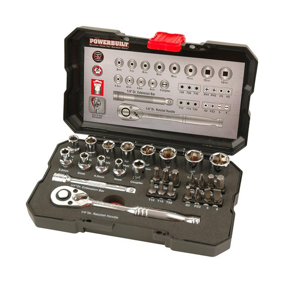 "Powerbuilt Metric ¼"" Dr 30 Piece Socket Set"