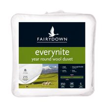 Fairydown Everynite Year Round Wool Duvet - 350gsm