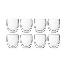 Bodum Pavina Double Wall Glasses Set of 8