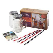 Kilner Mug, Lid + Straw Set