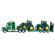 Siku 1:87 Freightliner Truck with 2 John Deere Tractors