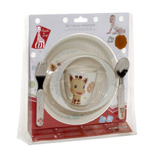 Sophie the Giraffe melamine meal-time set