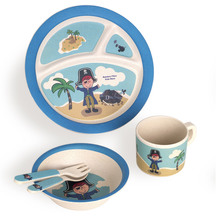 Bamboo Fibre Kids Dinner Set - Pirate