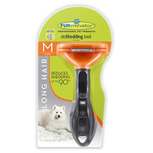 Furminator Deshedding Tool - Long Hair for Medium Dogs