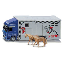 Siku 1:50 Mercedes Horse Transporter with 2 Horses