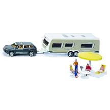 Siku 1:55 Porsche Cayenne with Caravan