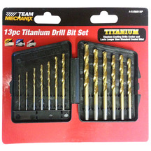Team Mechanix Titanium Drill Bit 13 Piece Set
