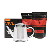 t leaf T Viva glass teapot and teas