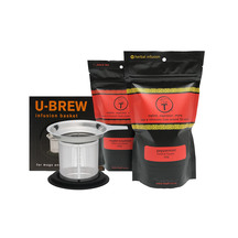 t leaf T U-Brew Infuser Basket and teas