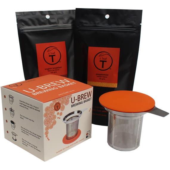 fly buys t leaf t u brew infuser and teas pack. Black Bedroom Furniture Sets. Home Design Ideas