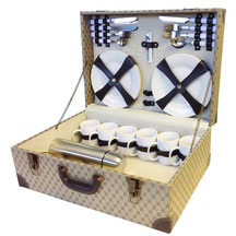 Easy days Retro Suitcase Picnic Set for 6