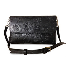 43355 dora black embossed bag
