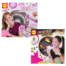 43341 alex neon brite   pretty pearl jewellery set