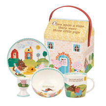 Queens China 4 Piece Breakfast Set