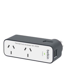 Belkin International Travel 2-Way Surge Protectore with 2...