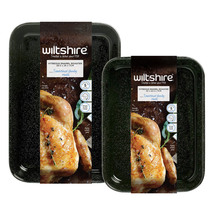 Wiltshire 2 Piece Enamel Roaster Set
