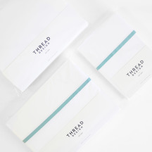 Thread Design 100% Cotton Sheet Set - Ocean Tape