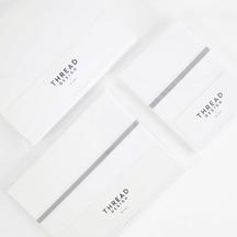 Thread Design 100% Cotton Sheet Set - Smoke Tape