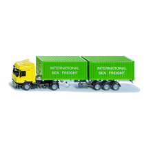Siku 1:50 Mercedes Actros with Shipping Containers