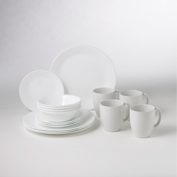 Corelle 16 piece Dinner Set - Winter Frost & Fly Buys: Corelle 16 piece Dinner Set - Winter Frost