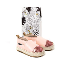 Pretty Brave Baby Shoes - Espadrille in Soft Pink with Gl...
