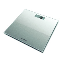 Salter Silver Glitter Electronic Bathroom Scale