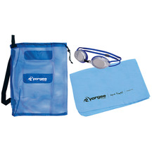 Vorgee Swim Set Goggles, Chamois Towel and Swim Bag