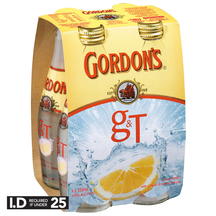 Gordon's Gin & Tonic 4 Pack Bottles 250ml