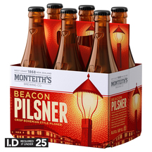 Monteith's Beacon Pilsner 6 Pack Bottles 330ml