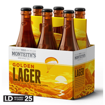 Monteith's Golden 6 Pack Bottles 330ml