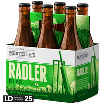 Monteith's Radler 6 Pack Bottles 330ml