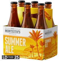 Monteith's Summer Ale 6 Pack Bottles 330ml