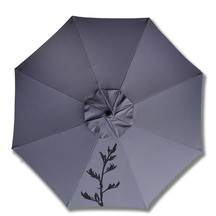 Beanz Umbrella Grey with Black Flax