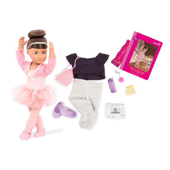 Our Generation Sydney Lee-Deluxe Doll and Book Toy 18/""
