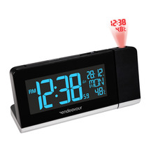 Endeavour Projector Clock with Indoor Temperature