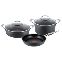 Jamie Oliver Premium Hard Anodised Induction 3 Piece Set