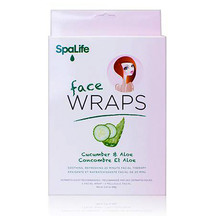 SpaLife - Pink Cucumber and Aloe Facial Wrap 3 Pack