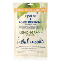 SpaLife - 10 Pack Facial Mask - Pore Refining Lemongrass ...