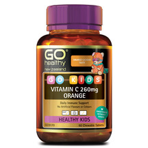 Go kids vitamin c 260mg orange 60s