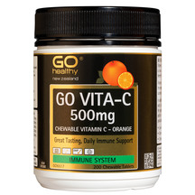 GO Vita-C 500mg Orange 200 ChewTabs