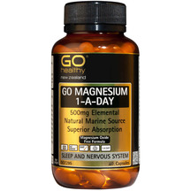 GO Magnesium 1-A-Day 500mg 60 Caps