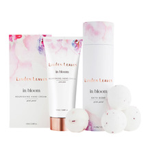 Linden Leaves Pink Petal Bath Bombs and Hand Cream Set