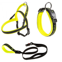 Ferplast Sport Dog Collar, Lead and Harness Yellow